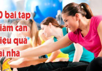 10 bài tập giảm cân nhanh nhất cho nam và nữ