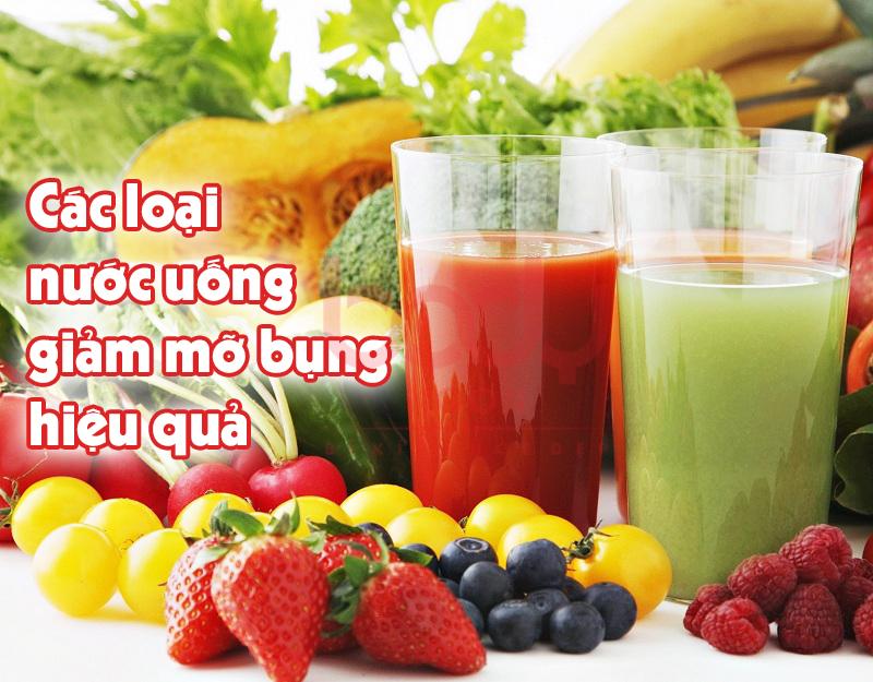 tổng hợp các loại nước uống giảm mỡ bụng hiệu quả