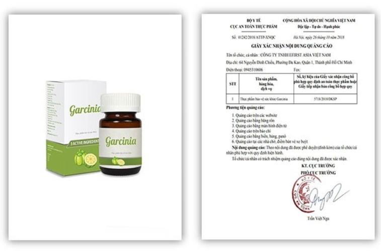 giấy phép kinh doanh garcinia