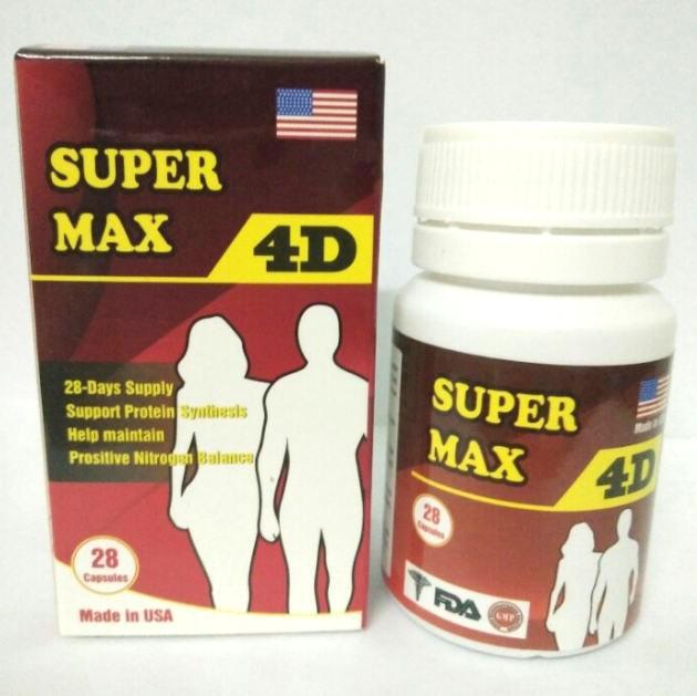 Thuốc tăng cân Super max 4d xuất xứ từ mỹ