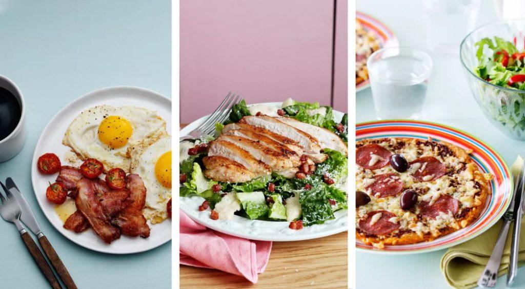 chỉ ăn đạm , protein trong thực đơn low carb