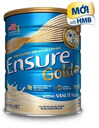 Ensure Gold hương vani ít ngọt
