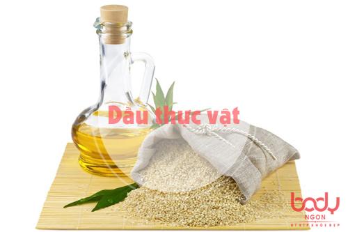 dầu thực vật chưa hàm lượng chất béo cao
