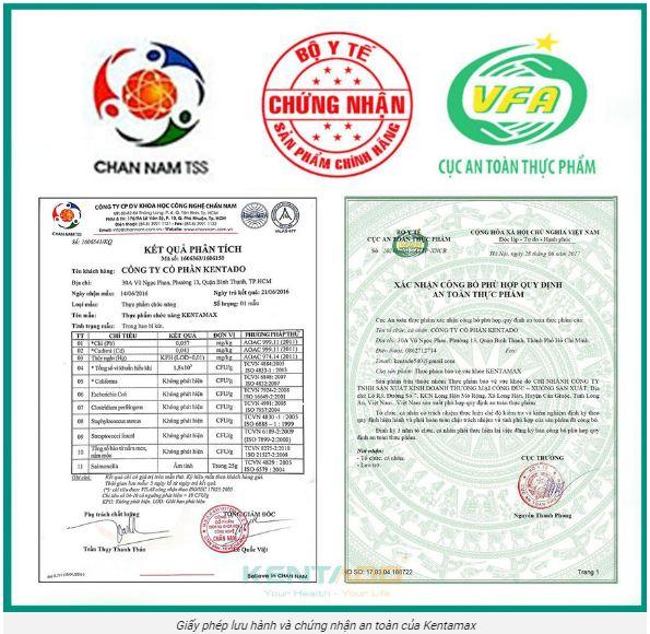 giấy phép sản xuất và lưu hành của thuốc kentamax