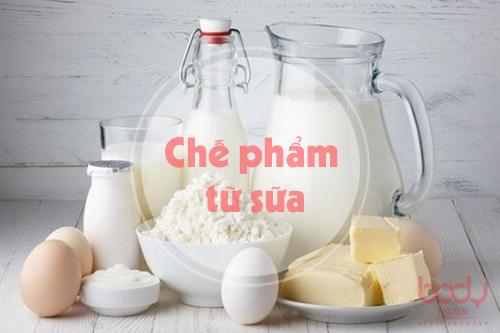 chế phẩm từ sữa chứa hàm lượng chất béo cao