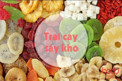 trái cây sấy khô rất nhiều đường có hại cho sức khỏe