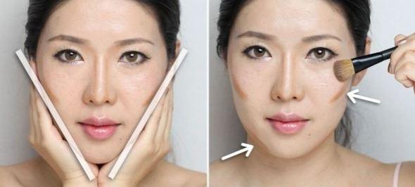 trang điểm tạo khối để khuôn mặt thon gọn hơn