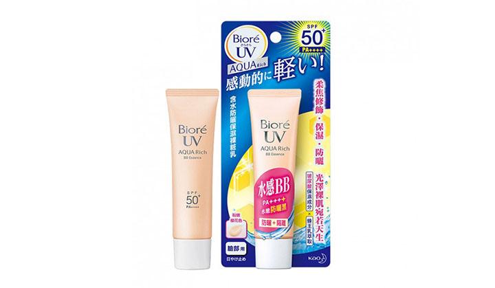 Review kem chống nắng Biore UV Aqua rich BB Essence